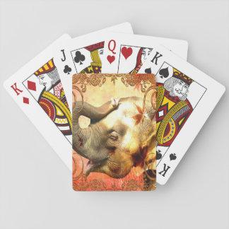 Jogo De Carta Cartões de jogo padrão do elefante cor-de-rosa