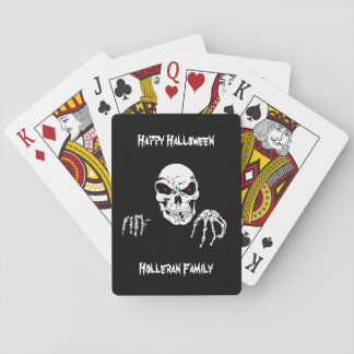 Jogo De Carta Cartões de jogo personalizados do crânio do Dia