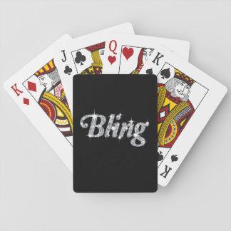 Jogo De Carta Cartões de jogo que caracterizam o design bling do