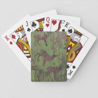 Jogo De Carta cartões de jogo rústicos da xadrez da rena dos
