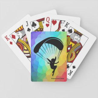 Jogo De Carta Cartões do duende do parapente do arco-íris