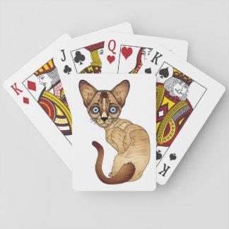 Jogo De Carta Cartões do gato Siamese