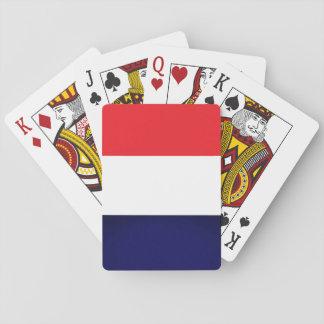 Jogo De Carta Cartões do vermelho, os brancos e os azuis de jogo