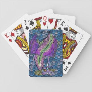 Jogo De Carta Cartões mágicos personalizados do dragão da escala
