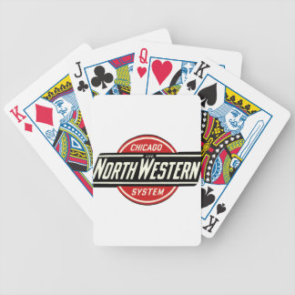 Jogo De Carta Chicago & logotipo do noroeste 1 da estrada de