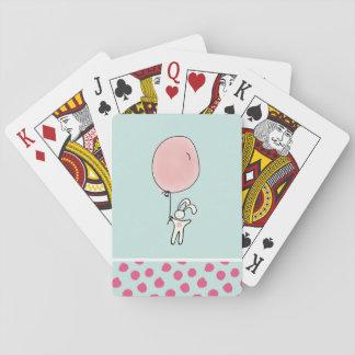 Jogo De Carta Coelho bonito que guardara um balão