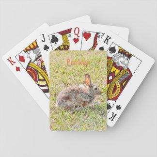 Jogo De Carta Coelho de coelho - páscoa - animais selvagens -