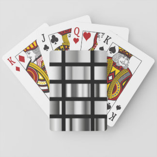 Jogo De Carta Colagem metálica de prata preta