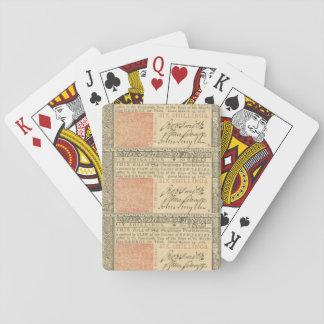 Jogo De Carta Colonial cartões de jogo da nota de 1776