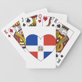Jogo De Carta Coração da bandeira da República Dominicana