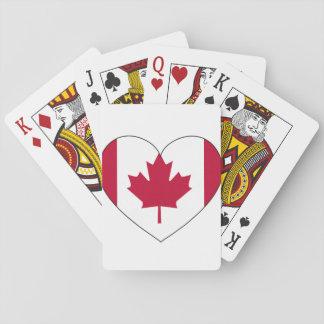 Jogo De Carta Coração da bandeira de Canadá