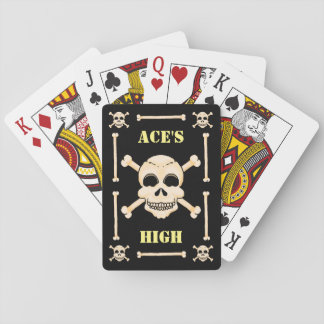 Jogo De Carta Crânio & cartões de jogo altos dos áss dos