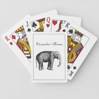Jogo De Carta Desenho do elefante do vintage