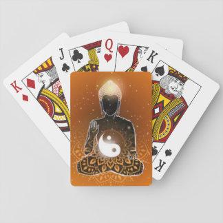 Jogo De Carta Design de Ying Yang da meditação de Buddha