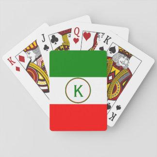 Jogo De Carta Design italiano da bandeira de Italia com suas