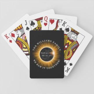Jogo De Carta Eclipse solar da totalidade da família
