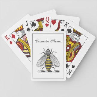 Jogo De Carta Emblema heráldico formal C da brasão da abelha do