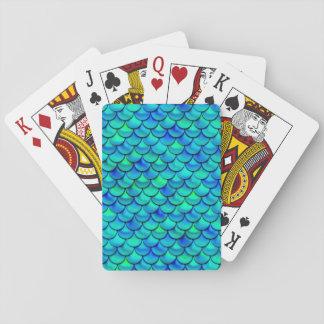 Jogo De Carta Escalas do azul do Aqua de Falln