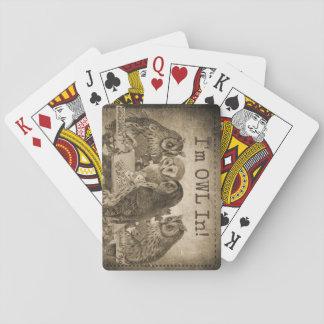 """Jogo De Carta """"Eu sou coruja"""" (eu sou todo dentro) no póquer"""