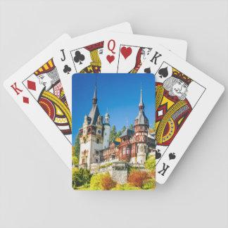 Jogo De Carta Exercendo o castelo Sinaia de Peles dos cartões