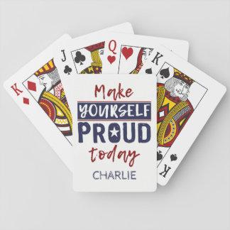 """Jogo De Carta """"Faça-se"""" cartões de jogo conhecidos feitos sob"""