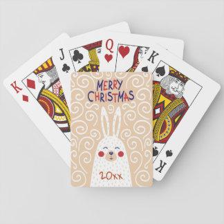 Jogo De Carta Feliz Natal/de design/jogo do coelho cartões