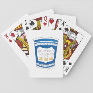 Jogo De Carta Feliz servir os cartões gregos do copo de café do