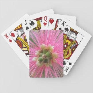 Jogo De Carta Flor cor-de-rosa da árvore de goma