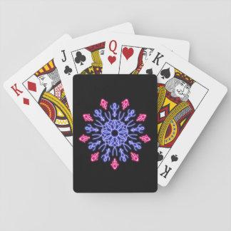 Jogo De Carta Flor de néon azul e vermelha