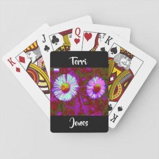 Jogo De Carta Fotografia floral da flor violeta roxa azul da