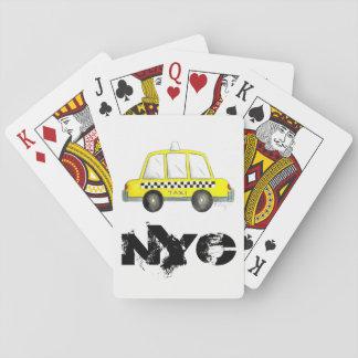 Jogo De Carta Impressão Checkered do táxi da Nova Iorque amarela