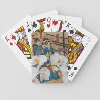 Jogo De Carta Impressão do japonês com os cartões de jogo da