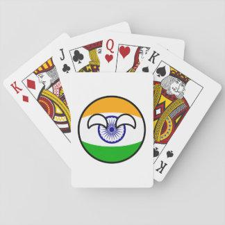 Jogo De Carta India Geeky de tensão engraçado Countryball