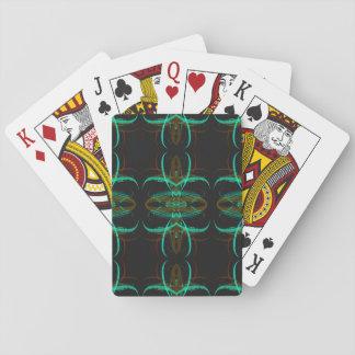 Jogo De Carta Índice padrão que joga o Fractal abstrato Desig de