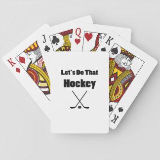 Jogo De Carta Jogadores engraçados de vara de hóquei e de hóquei
