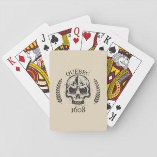 Jogo De Carta Jogo de mapa Quebeque biker skull/crânio grunge