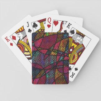 Jogo De Carta Linhas pretas corajosas & texturas coloridos,