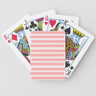 Jogo De Carta Listras cor-de-rosa e brancas