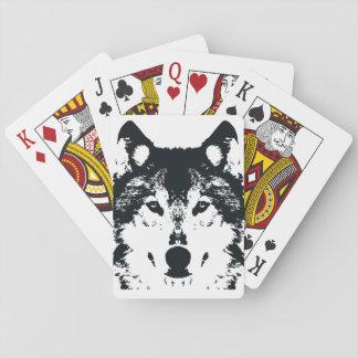 Jogo De Carta Lobo preto da ilustração