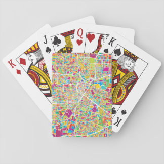 Jogo De Carta Mapa de néon de Houston, Texas  