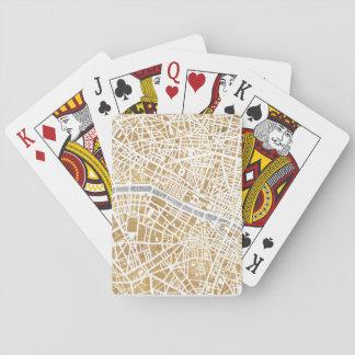 Jogo De Carta Mapa dourado da cidade de Paris