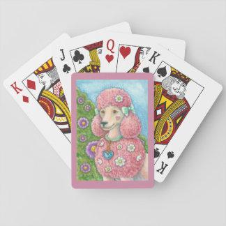 Jogo De Carta MARGARIDA os CARTÕES de JOGO cor-de-rosa franceses