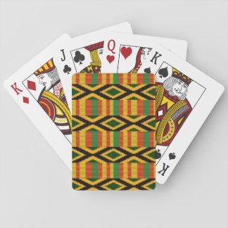 Jogo De Carta Multi design africano do impressão do teste padrão