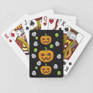 Jogo De Carta O Dia das Bruxas preto Emoji