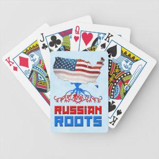 Jogo De Carta O russo americano enraíza a plataforma de cartão