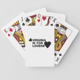 Jogo De Carta O vintage Virgínia é para o presente dos amantes