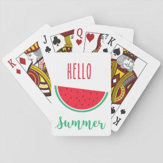 Jogo De Carta Olá! cartões de jogo do verão