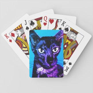 Jogo De Carta ~ oriental do gato do fumo do preto do ~ do ~Asia