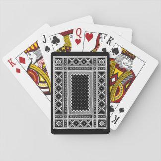 Jogo De Carta Ornamento noruegueses da malha do estilo