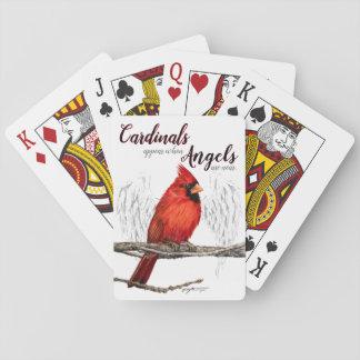 Jogo De Carta Os cardeais aparecem anjos estão perto dos cartões
